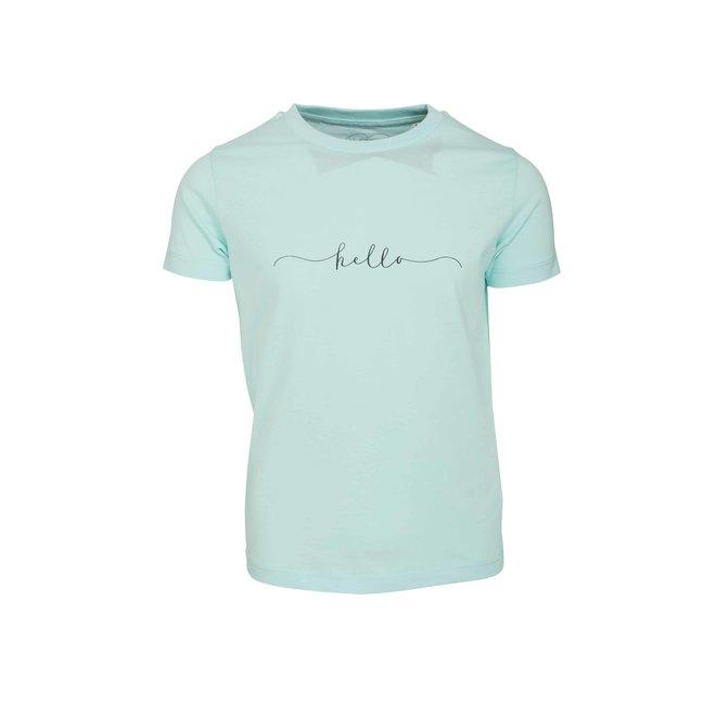 CDKN_kids - hello t shirt - light blue