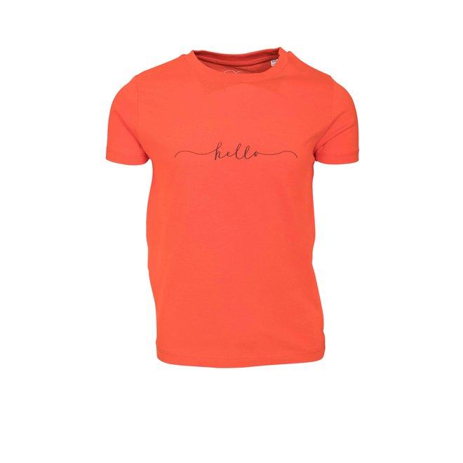 CDKN_kids - hello t shirt - deep orange