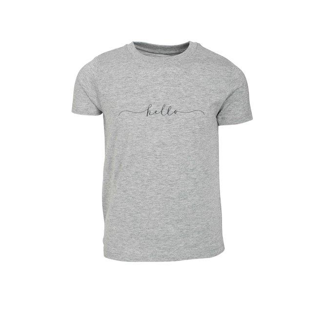 CDKN_kids - hello t shirt - heather grey