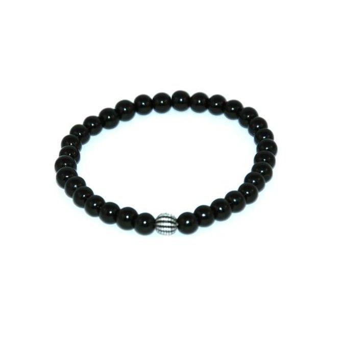 CASCADE - bracelet - black agate