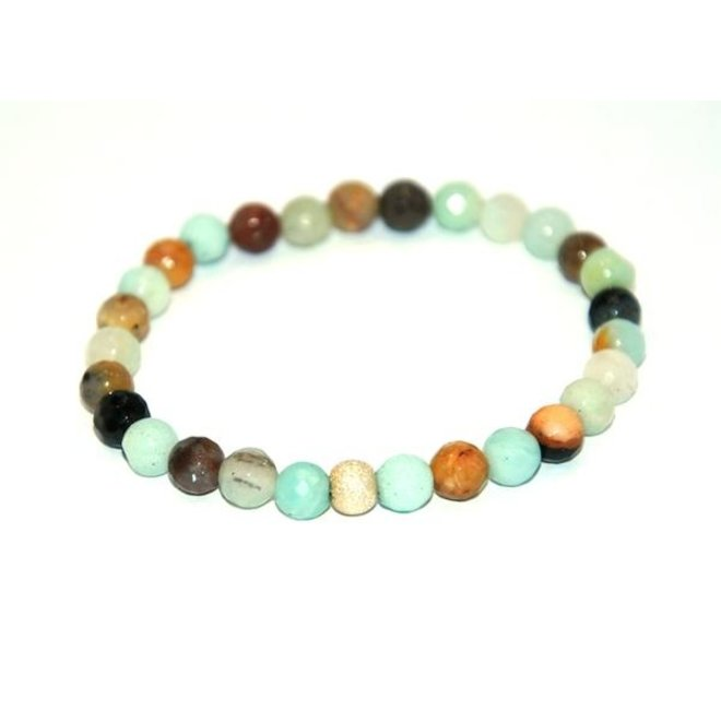 CASCADE - bracelet - faceted amazonite