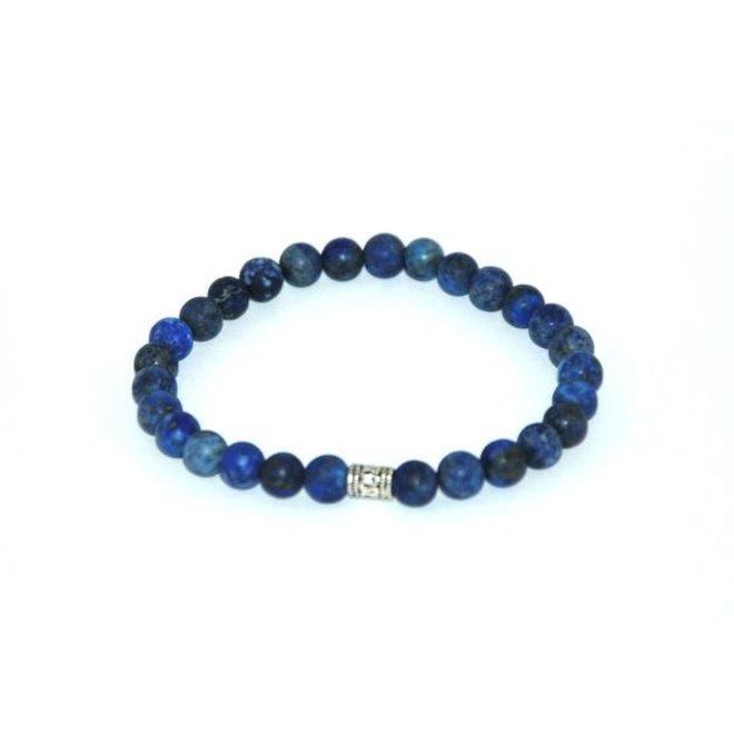 CASCADE - armband - frosted lapis lazuli