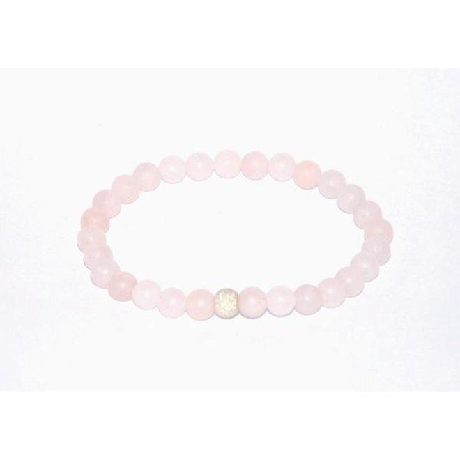 CASCADE - armband - frosted rose quartz
