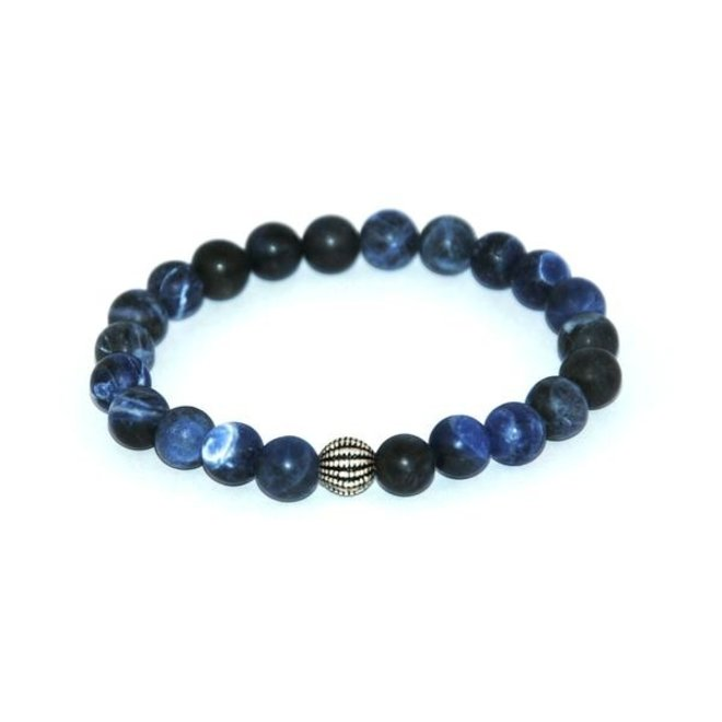 CASCADE - armband - frosted sodalite
