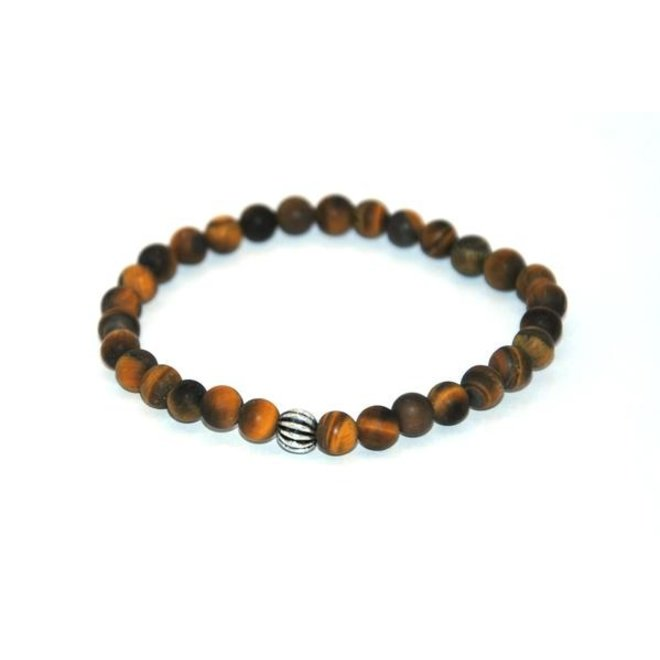 CASCADE - armband - tiger eye frosted