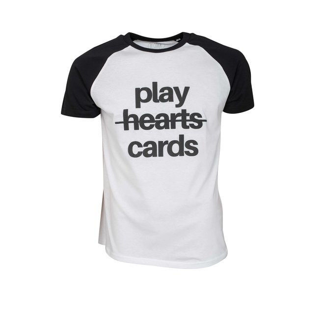 CDKN_official - play cards - t-shirt zwart wit