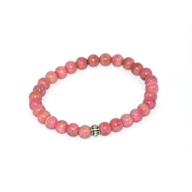 CASCADE - bracelet - rhodonite