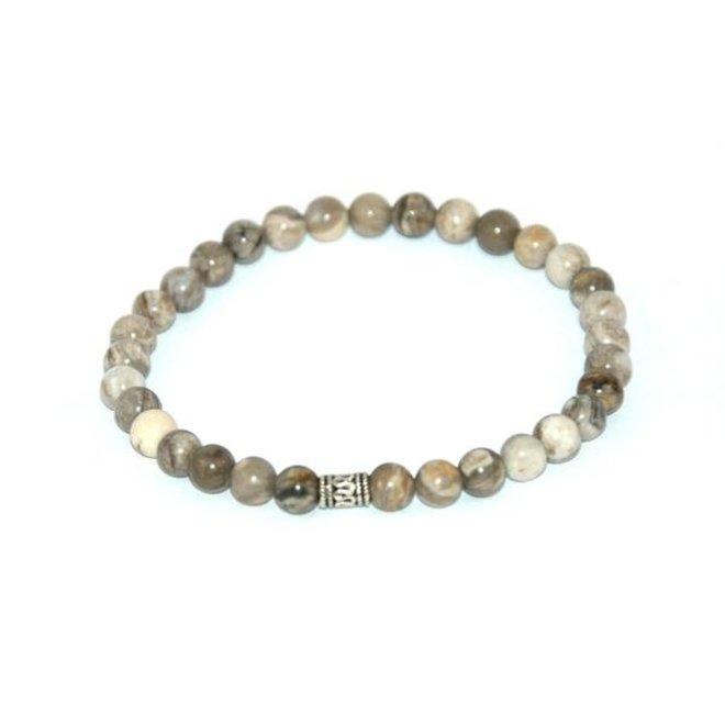 CASCADE - armband - silverleaf jasper