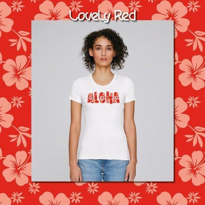 ALOHA - Happy Flower - t shirt - vrouwen