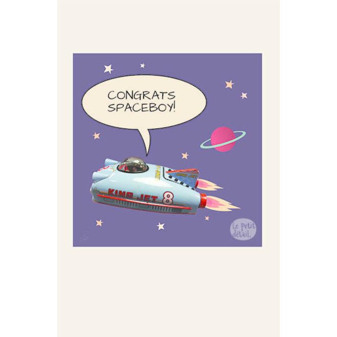 LE PETIT DÉTAIL - postkaart - congrats spaceboy
