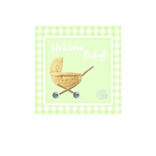 LE PETIT DÉTAIL - postkaart - welcome baby noot
