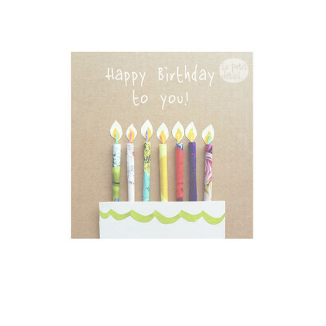 Happy birthday/paper candles