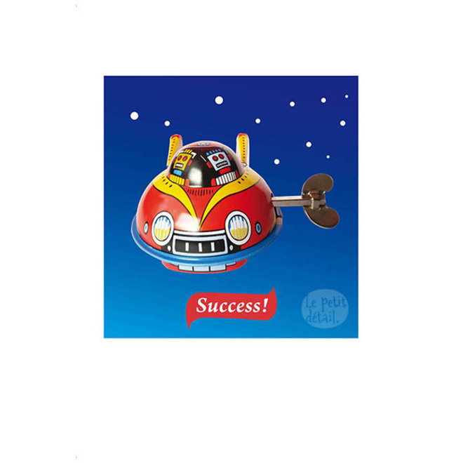 LE PETIT DÉTAIL - postkaart - success spaceship