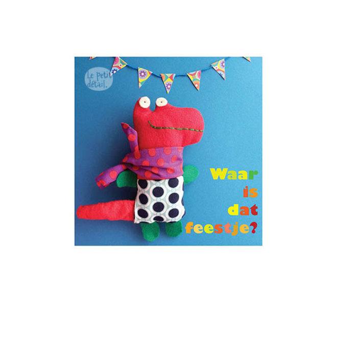 LE PETIT DÉTAIL - postkaart - waar is dat feestje?