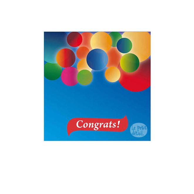 LE PETIT DÉTAIL - postkaart - congrats ballon