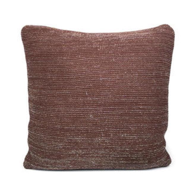Dôme deco - cushion alan brown, knitted