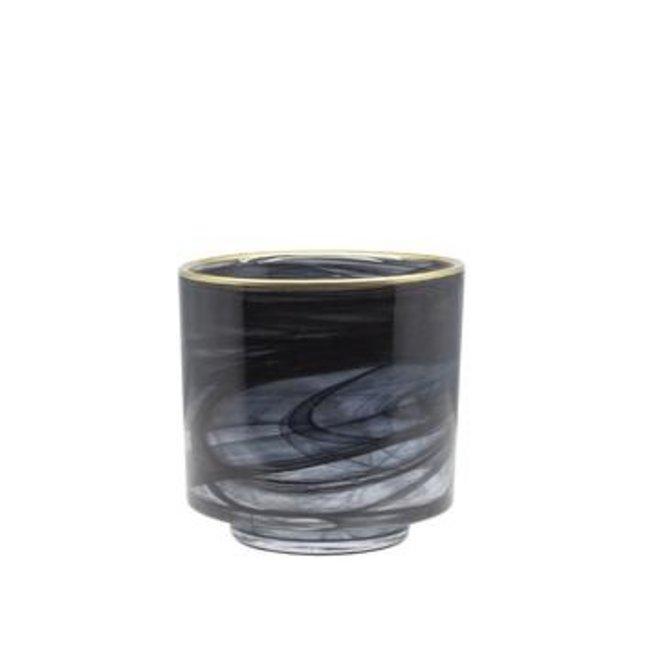 Dôme deco - tealight glass alabaster
