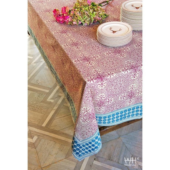 WINDY HILL - tablecloth - muse red