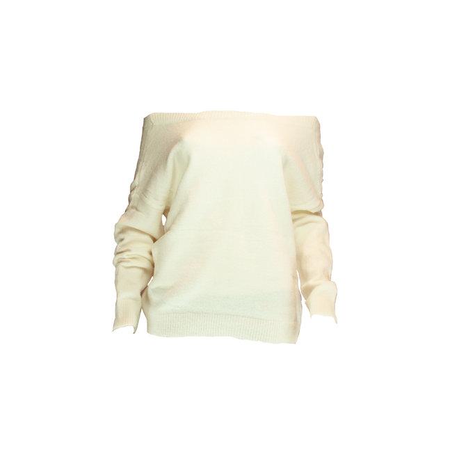 Sus & Mus - trui knoopjes panter omkeerbaar