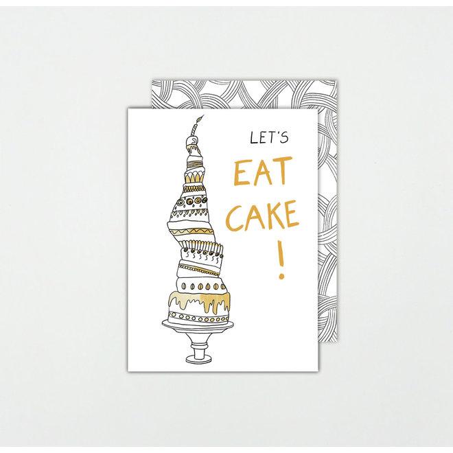 SOMAJ - wenskaart - Let's eat cake!