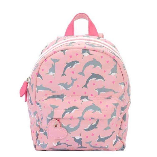 Visjes en Co: Zebra: rugzak Dolfijn