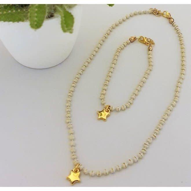 SUIKERBOETIEK - necklace + bracelet for kids - star
