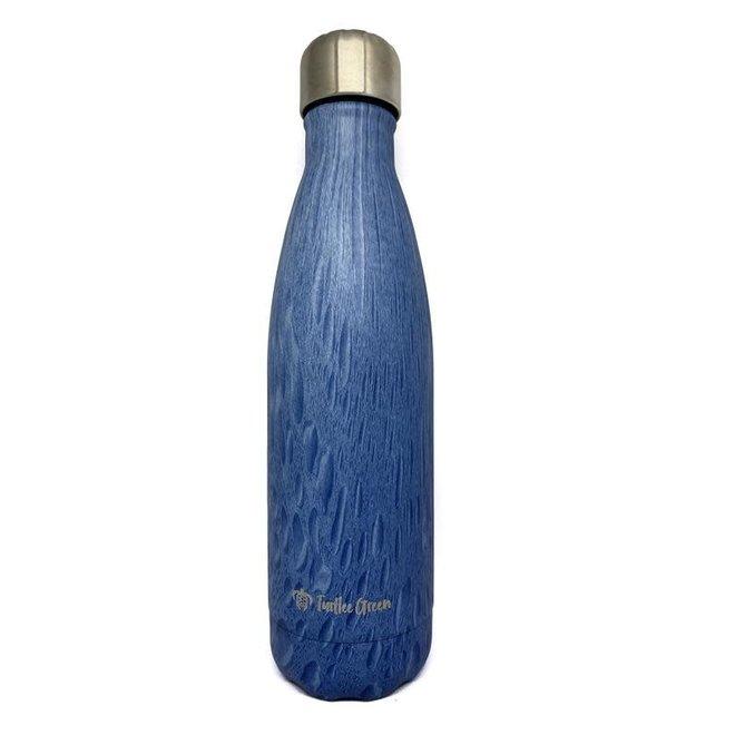 Drinkfles - Hout Donker Blauw