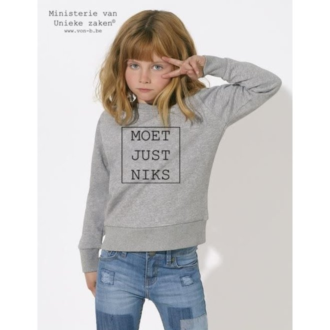MVUZ-Moet Just Niks Sweater Kids