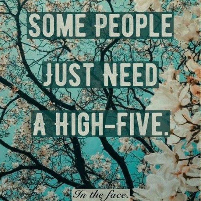 Houten Bordje High Five