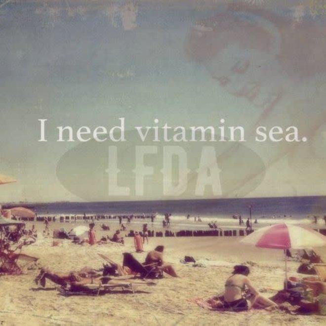Houten Bordje Vitamin Sea
