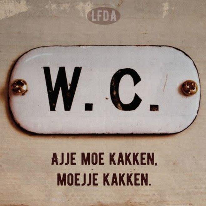houten bordje wc