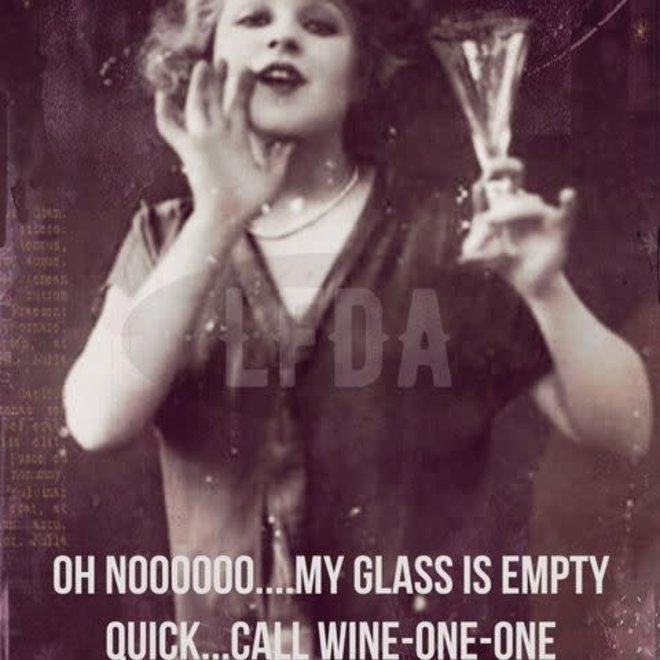 postkaart wine- one- one