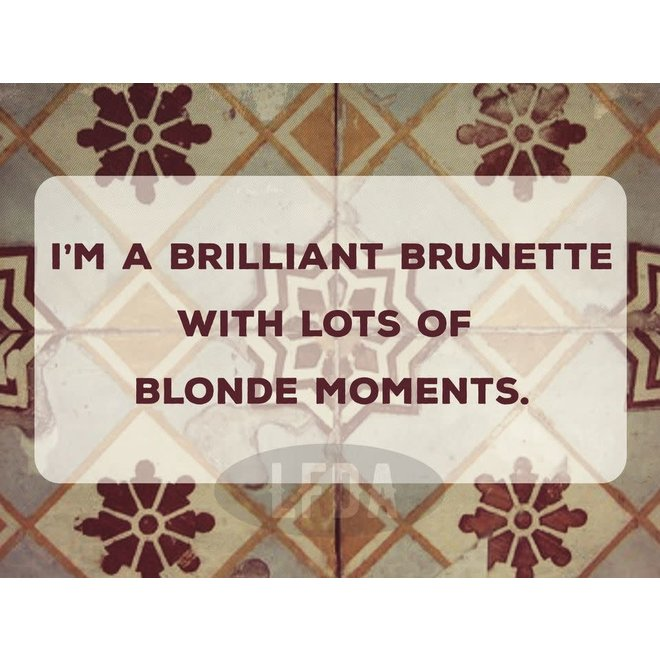 Houten Bordje Blonde