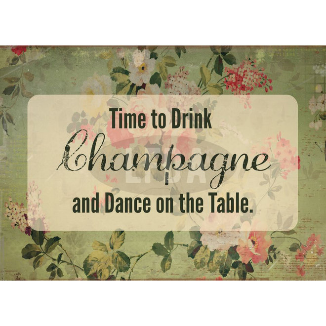 Houten Bordje Dance On The Table