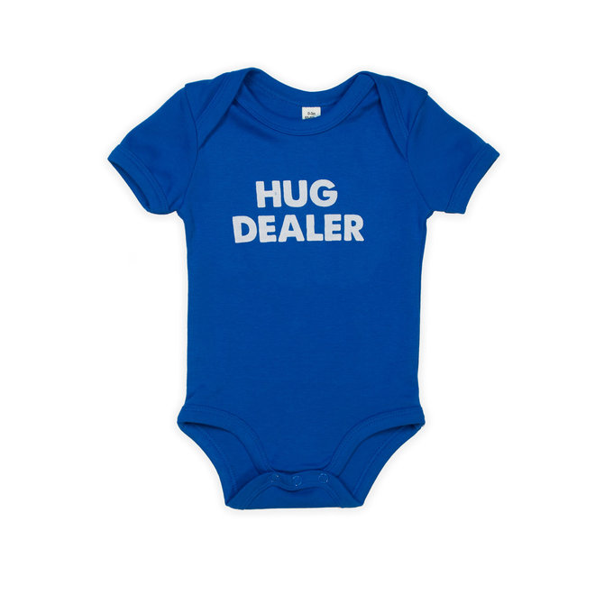 CDKN_baby - Cobalt blauwe baby bodysuit short sleeves - hug dealer