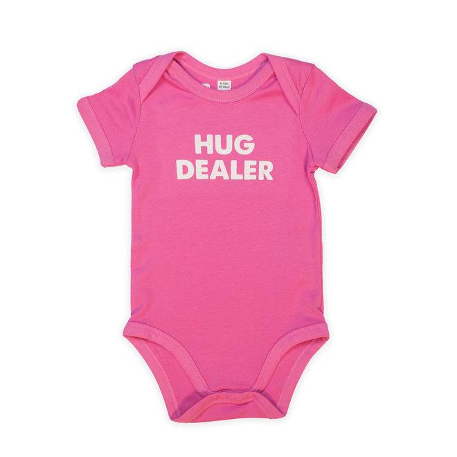 Roze baby bodysuit short sleeves - hug dealer