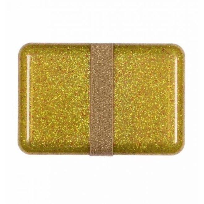 Visjes en Co: lunch box glitter gold