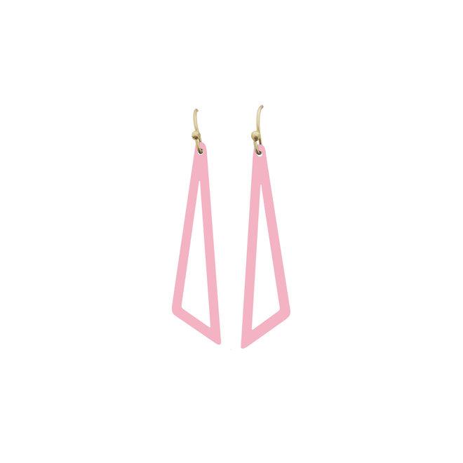 OorbEllen driehoek roze