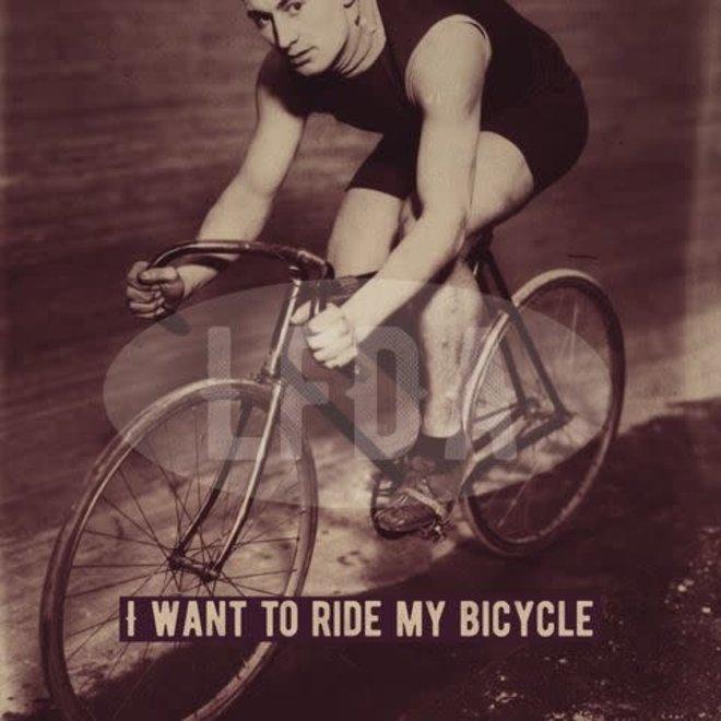 houten bordje ride my bicycle