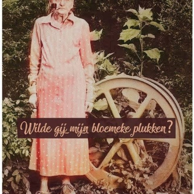 lfda – houten bordje bloemeke