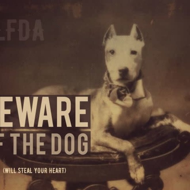houten bordje beware of the dog