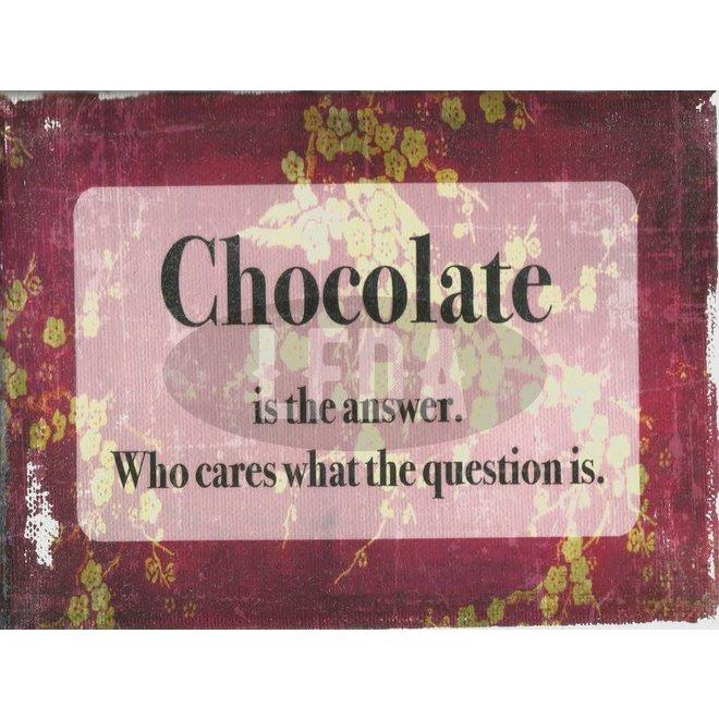 Houten Bordje Chocolate