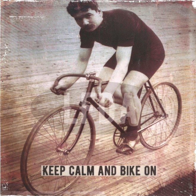 Houten Bordje Bike On