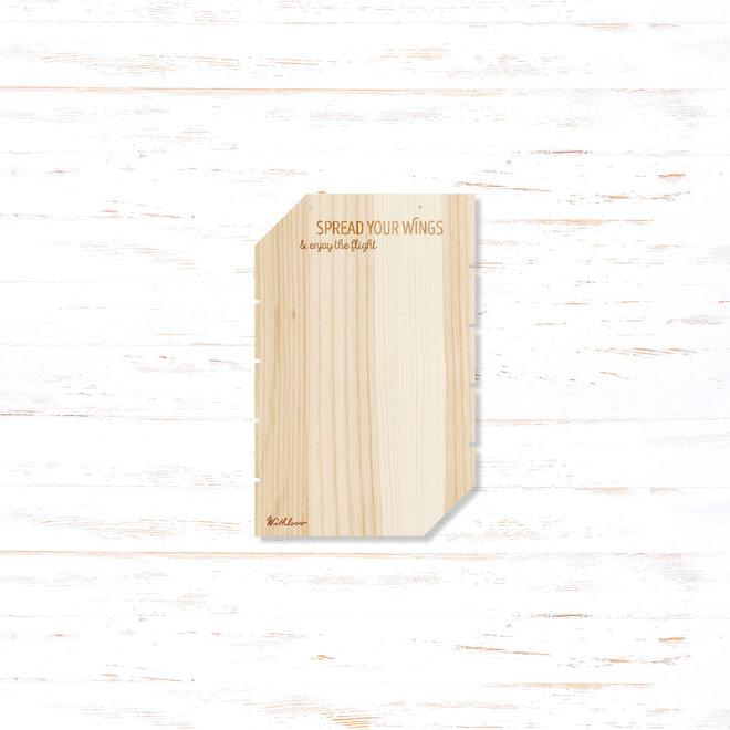 Memory board klein - spread your wings