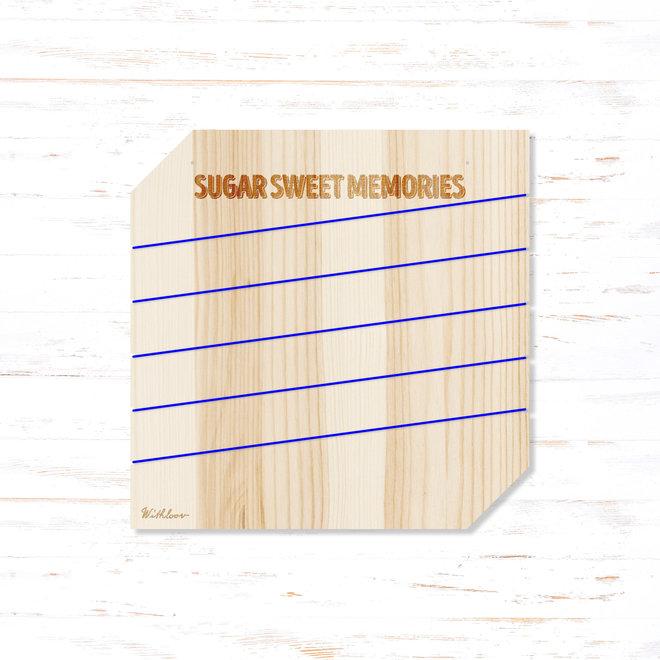 Memory board vierkant - sugar sweet memories
