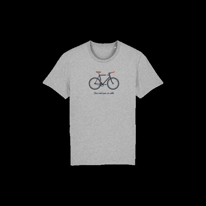 ceci n'est pas un vélo - t shirt 9-11 grijs full color