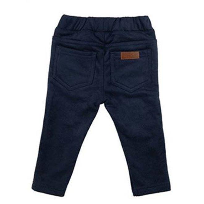 Pants frill navy blue