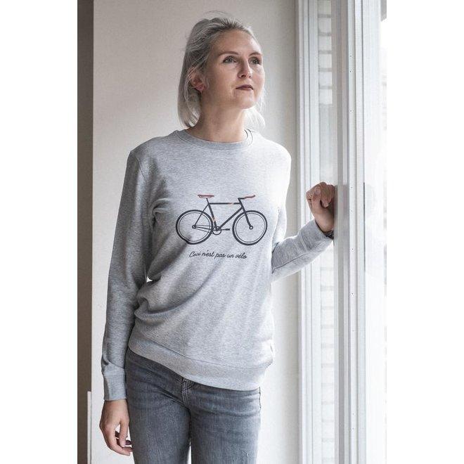 Ceci n'est pas un vélo - grijze trui