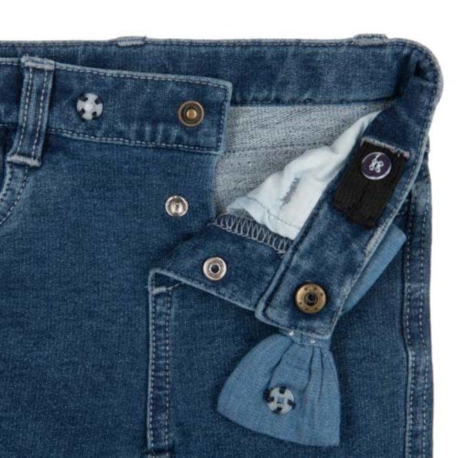 Jeans bow glitter light blue