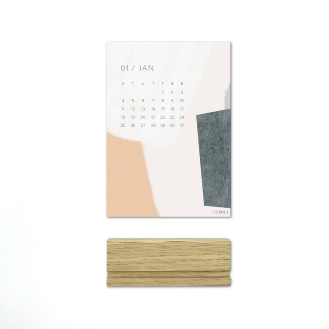2021 DESK CALENDAR - A6 - ABSTRACT COLOR